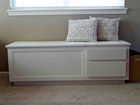 White Wooden Storage Bench  Home Furniture Design