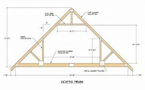 roof truss building plans woodworking projects plans With 40 ft truss plans