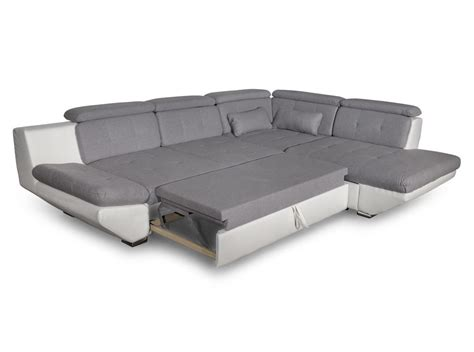 canapé tiroir canapé convertible avec tiroir bi matière gris clair