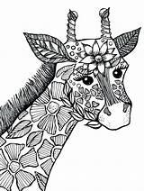 Mandala Coloring Pages Animal Adult Zapisano Kolorowanka Giraffe Kolorowanki sketch template