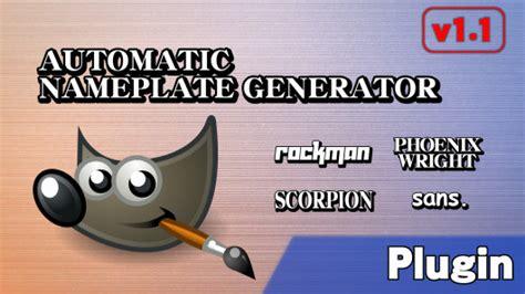 Automatic Nameplate Generator V1.1 (super Smash Bros. For