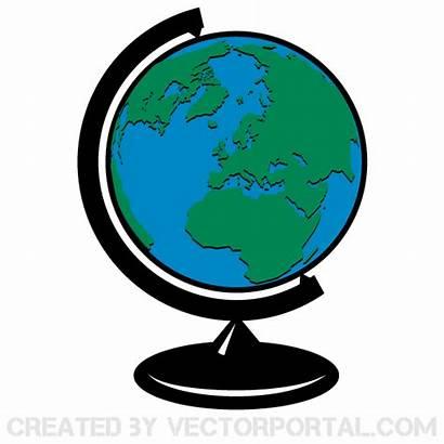 Globe Earth Clip Vector Map