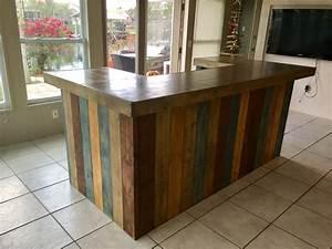 The Rustic Blues - rustic barn wood style bar, sales