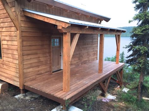 hand building a timberframe shed deck roof ana white