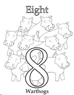 number  coloring page   images letter