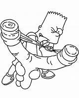 Simpsons Skateboarding sketch template