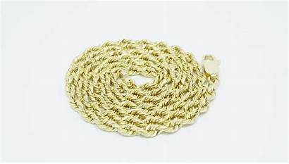 Chain 14k Rope Mm Solid Yellow