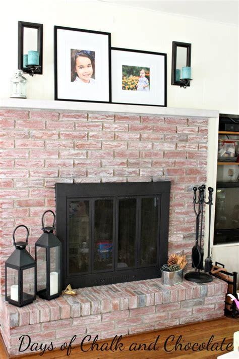 whitewashing a fireplace whitewashed brick fireplace live creatively inspired