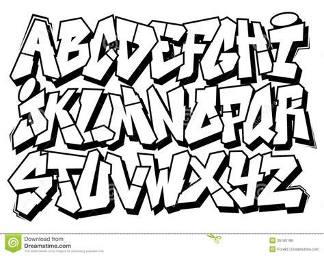 Graffiti Alphabet Arrow Style Abjad Gravity Bubble Abjad