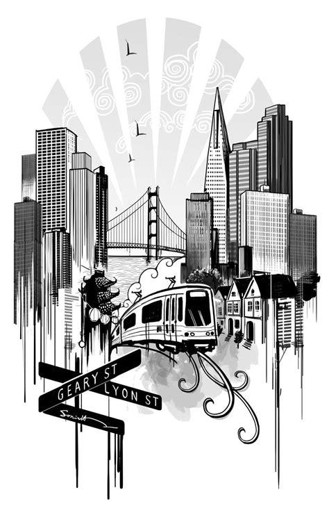 San Francisco tattoo design by Ilustreishon   Tattoo designs, San francisco tattoo, Building tattoo