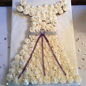 wedding dress cake with mini cupcakes the vow With how to make cupcake wedding dress