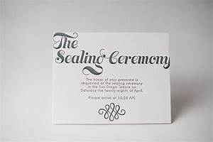 invitation info cards sealing ceremony lds wedding lds With lds photo wedding invitations