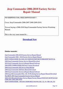 2006 Jeep Commander Manual Pdf