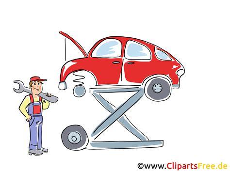 auto auf der hebebuehne clipart bild grafik cartoon