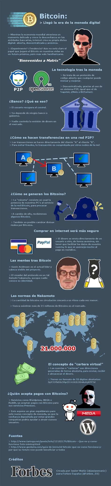 Todo sobre bitcoin (funcionamiento, minería, ventajas, desventajas.) y las monedas digitales como litecoin, freicoin y ripple.¡suscribete y apoya nuestro. Bitcoin y la nueva economía descentralizada digital #eCommerce. #Infografía en español | What is ...