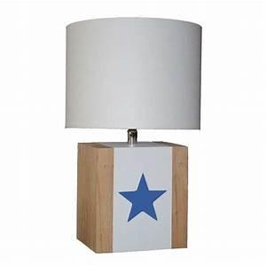 Lampe Etoile Ikea : lampe de chevet enfant en bois et toile l34 la redoute ~ Teatrodelosmanantiales.com Idées de Décoration