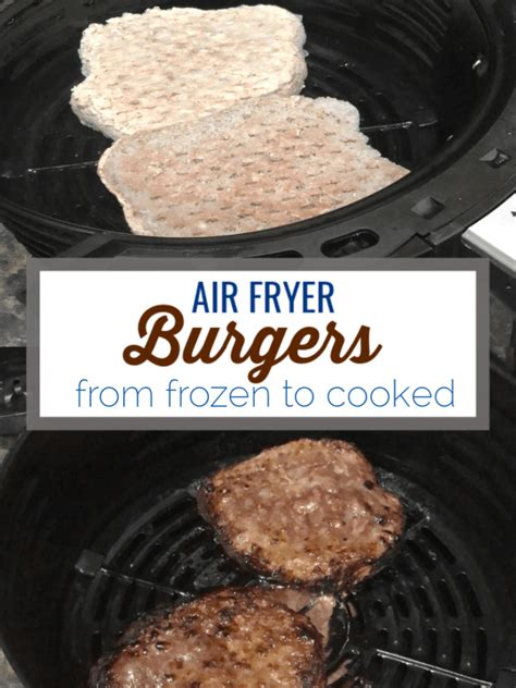 fryer air burgers frozen cook cooked recipe burger airfryer oven hamburger patties recipes bottom cooking fry beef minutes food keto