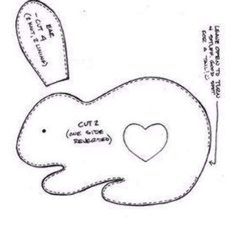 Bunny Template For Sewing by 497 Best Images About Bunnies And Bunny Things On