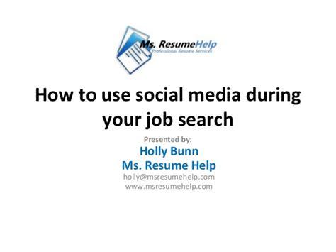 ms resume help workshop social media search