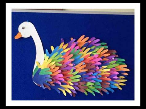 handprint swan idea  kids  images hand crafts