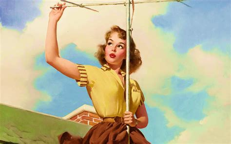 Time To Show Up / Pinups By Gil Elvgren