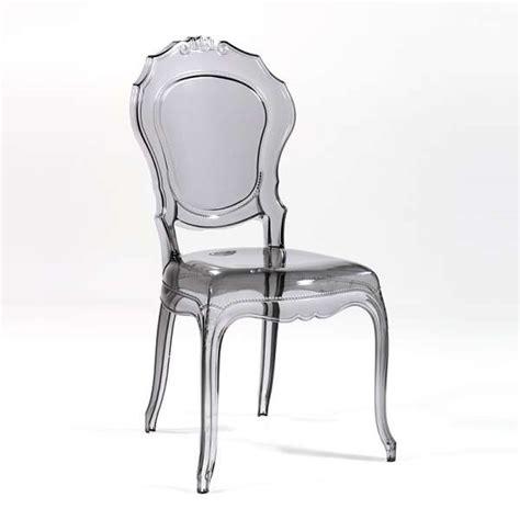 chaise en polycarbonate chaise design en polycarbonate style régence époque 4 pieds tables chaises et tabourets