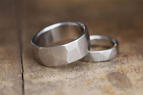 hammered bands new york wedding ring