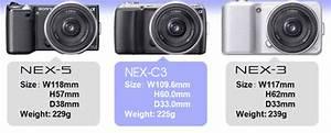 Sony Nex C3 Vs  Nex 3 Vs  Nex 5 Vs  Olympus E-pl2 Vs  Panasonic Gf2 Size Comparison