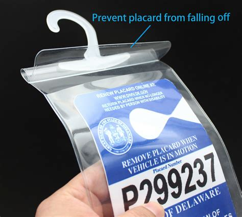 Handicap Placard Holder Disabled Parking Permit Protector