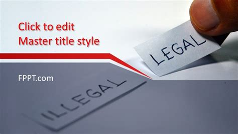 Free Legal PowerPoint Template - Free PowerPoint Templates