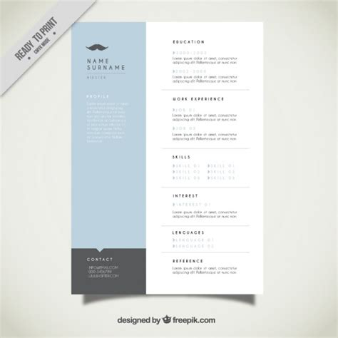 Modern Resumes Free by Modern Resume Template Vector Free