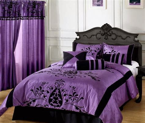 Grey Purple Bedroom, Purple And Gray Comforter Lavender
