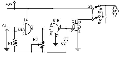 Pulse Width Modulation Motor Control Circuit Diagram