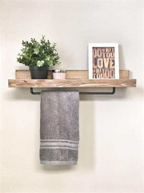 Bathroom Shelf With Towel Bar Wood by Best 25 Ledge Shelf Ideas On Photo Ledge