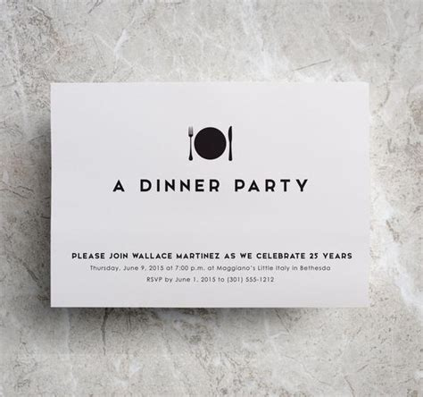 Dinner Invitation Company Dinner Corporate Dinner Etsy
