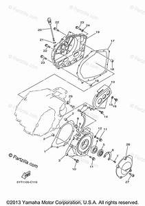 Yamaha Atv 2007 Oem Parts Diagram For Crankcase Cover  1