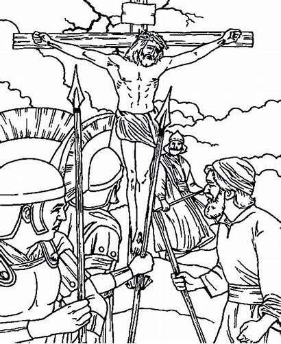 Jesus Coloring Crucifixion Pages Friday Tomb Crucified