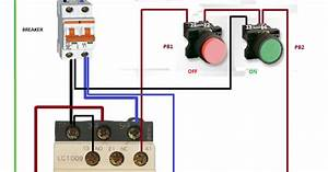 Electrical Diagrams  Relay Contactor With Push Button On