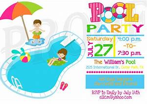Pool Party Invitation Pool Party Decoration Kids Pool Party
