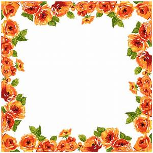 Deco Frame Flowers transparent PNG - StickPNG