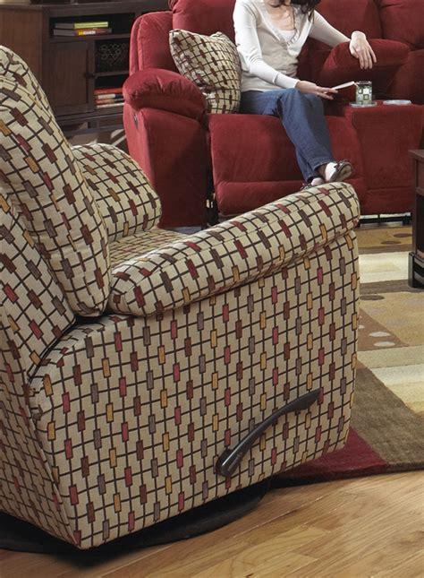 bryson swivel glider recliner  rustic pattern fabric
