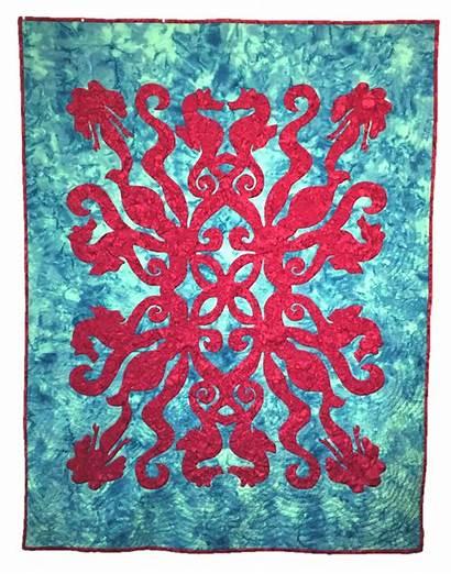 Hawaiian Quilt Applique Pattern Patterns Sea Under