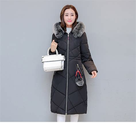 womens parka coats  hat hair collar black dark blue
