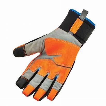 Gloves Waterproof Thermal Orange Utility Ergodyne Performance
