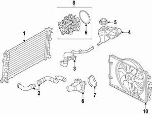 Ford Fusion Radiator Coolant Hose  Rear  Hybrid  Cooling