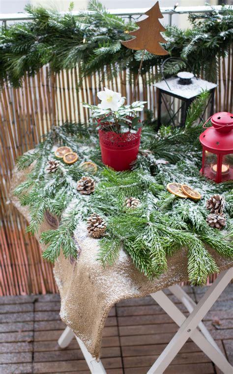 Weihnachtsdeko Für Garten Gebraucht by Weihnachtsdeko F 252 R Den Balkon Garten Fr 228 Ulein