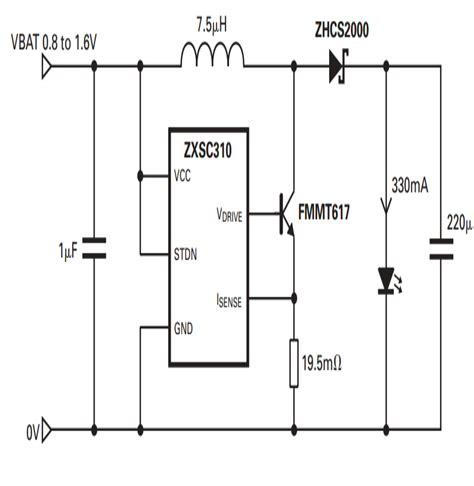 1 watt led driver circuit using a single 1 5 cell