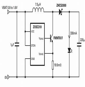 1 Watt Led Driver Circuit Using A Single 1 5 Cell