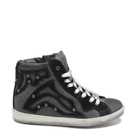 Sneaker Zeppa Interna - sneakers zeppa interna grigio nero vera pelle made in italy