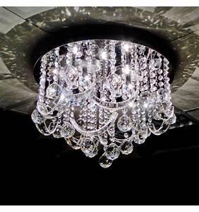 Plafonnier Design Led : plafonnier led cristal 45 cm baroque ~ Melissatoandfro.com Idées de Décoration